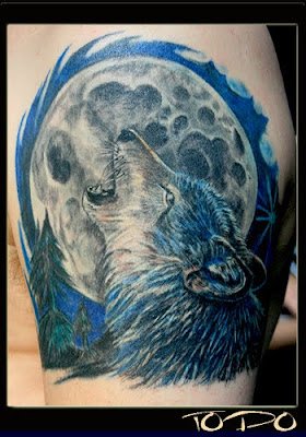 wolf moon tattoo     w...