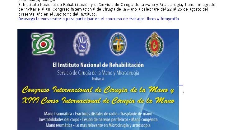 Colegio mexicano de ortopedia y traumatolog a xiii for W de porter ortopedia