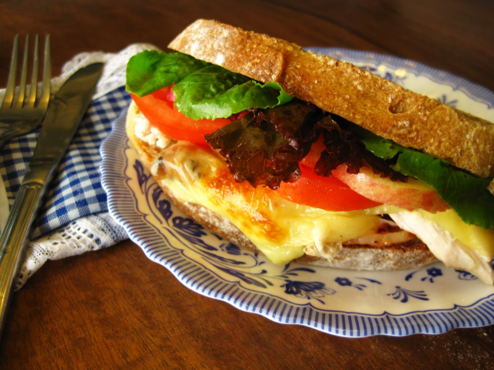 The Blue Cottage: Roasted Chicken BLT Sandwich