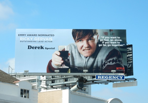 Derek Special 2015 Emmy nomination billboard