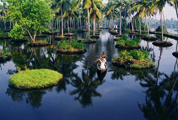 Alleppey in Kerala, India