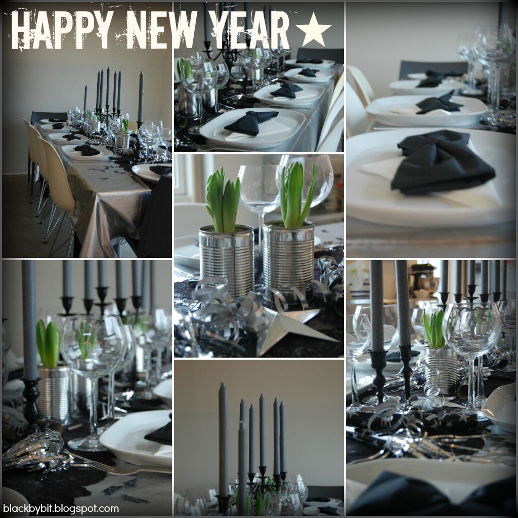 Black by bit new years eve table setting for Table 52 new years eve