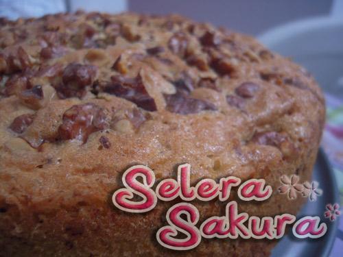Kek Walnut Coklat... Terima Kasih Kak Lydia Miza