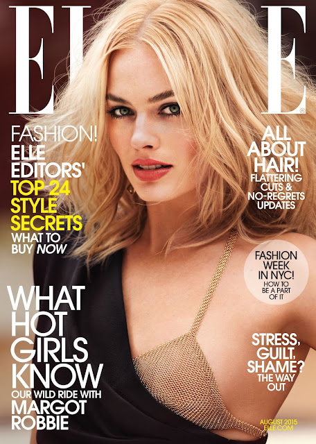 Actress @ Margot Robbie By Cedric Buchet For Elle Us, August 2015