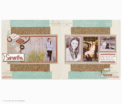 CTMH Jackson Paper Scrapbook Layout