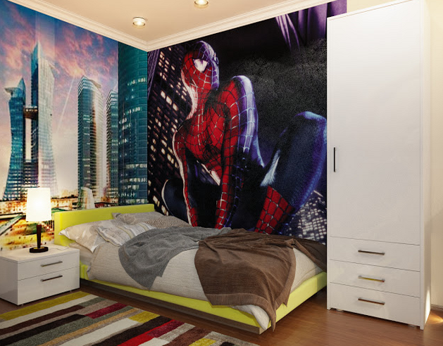 Decorar un dormitorio infantil inspirado en spiderman for Como decorar tu cuarto para hombre