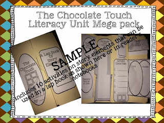 http://www.teacherspayteachers.com/Product/The-Chocolate-Touch-Literacy-Unit-Mega-Pack-1042434