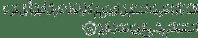 Surat Al-Ahqaf ayat 24