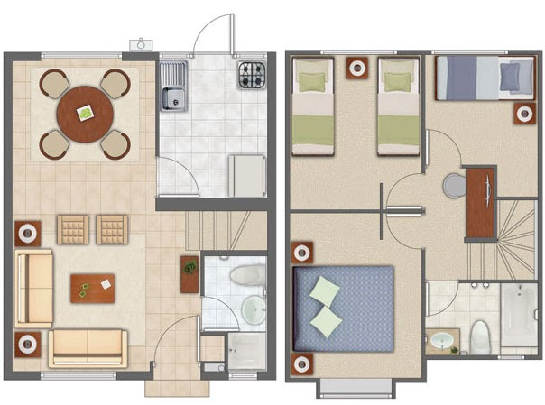 Planos de casas gratis y departamentos en venta planos de - Casas de dos plantas sencillas ...