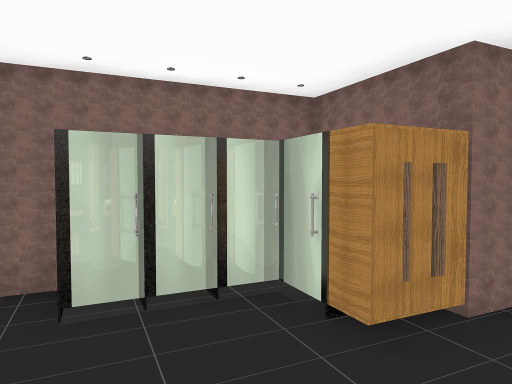3D VIEW: Projeto de Banheiro para Shopping Center #856342 1024 768