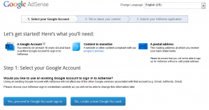 How to apply google adsense