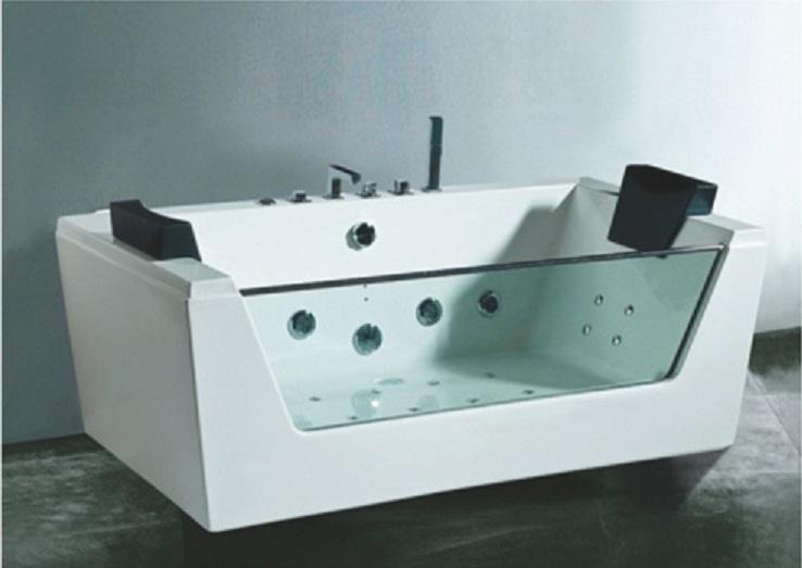 Vasca idromassaggio rettangolare con vetro frontale ~ box doccia ...