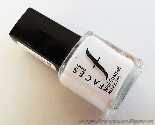 Faces Canada Nail Enamel 'White O White 14' Review