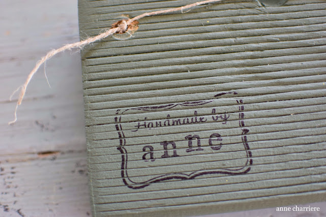 www.annecharriere.com, DIY estrellas de mar, cartelito madera,
