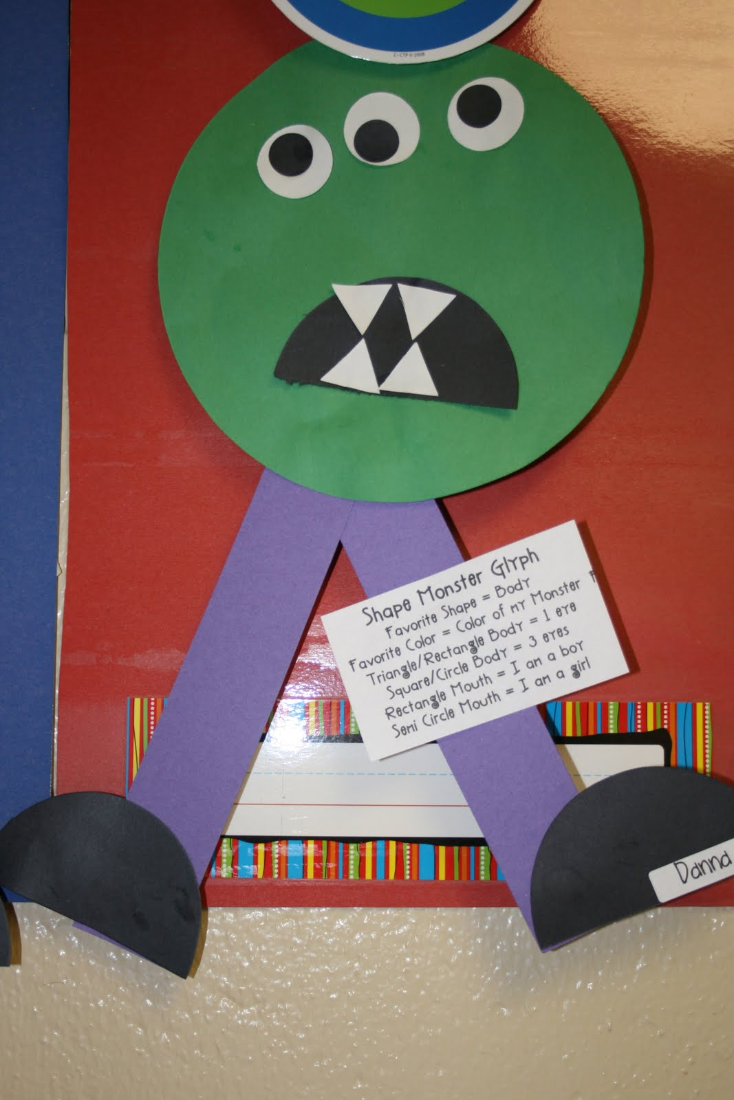 Making Monsters With Shapes Worksheets : Mrs mayas kindergarten green monsters shape