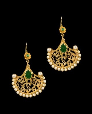 indian jewellery and clothing distinct earrings
