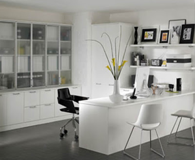 Modern Home Office Design White