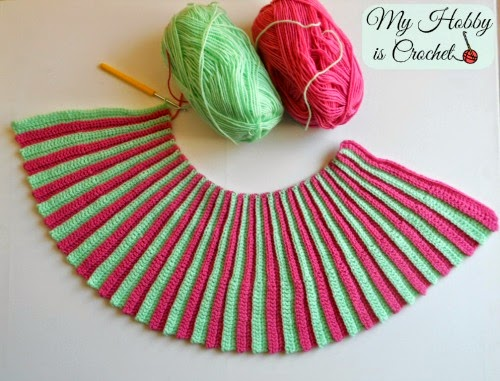 My Hobby Is Crochet Pleated Mini Skirt Toddler Size Free Crochet