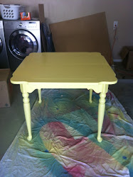 Canary Yellow Table **SOLD**