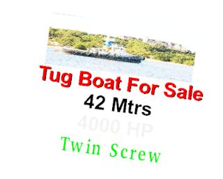tug towing, 1000 BHP