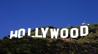hollywood, sign, landmark, hillside