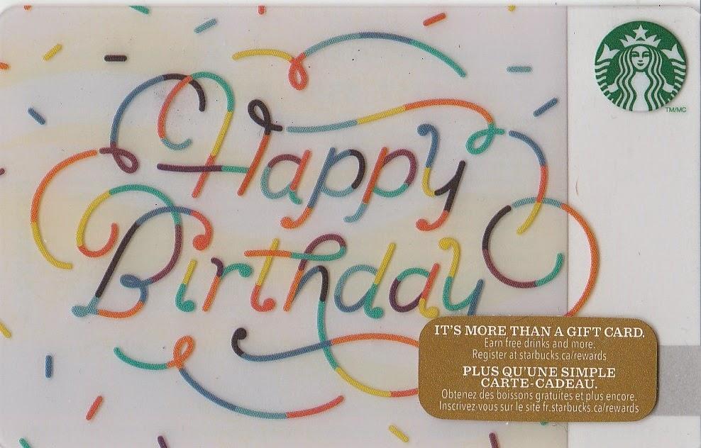 Starbucks Happy Birthday Gift Card