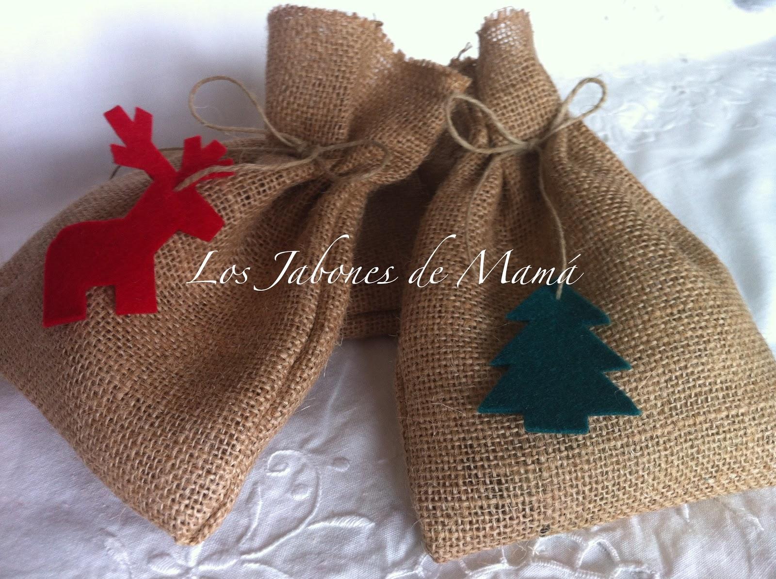 regalos de navidad bolsa de arpillera