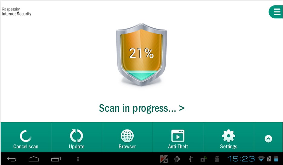 ScreenShot Kaspersky Internet Security For Android