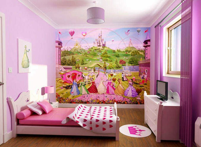 Desain interior kamar tidur tema princess