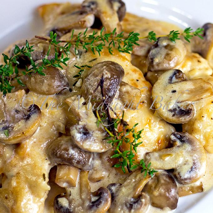 Mushroom Asiago Chicken The Midnight Baker