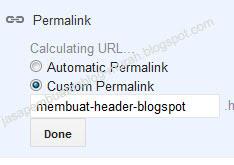 setting permalink blogspot