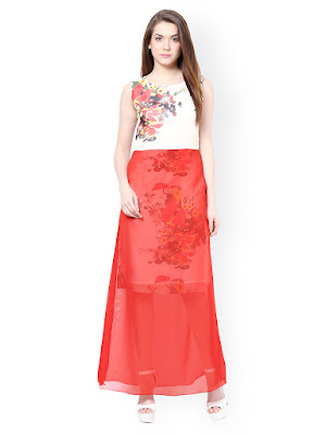 Athena Red Printed Maxi Dress from JAbong