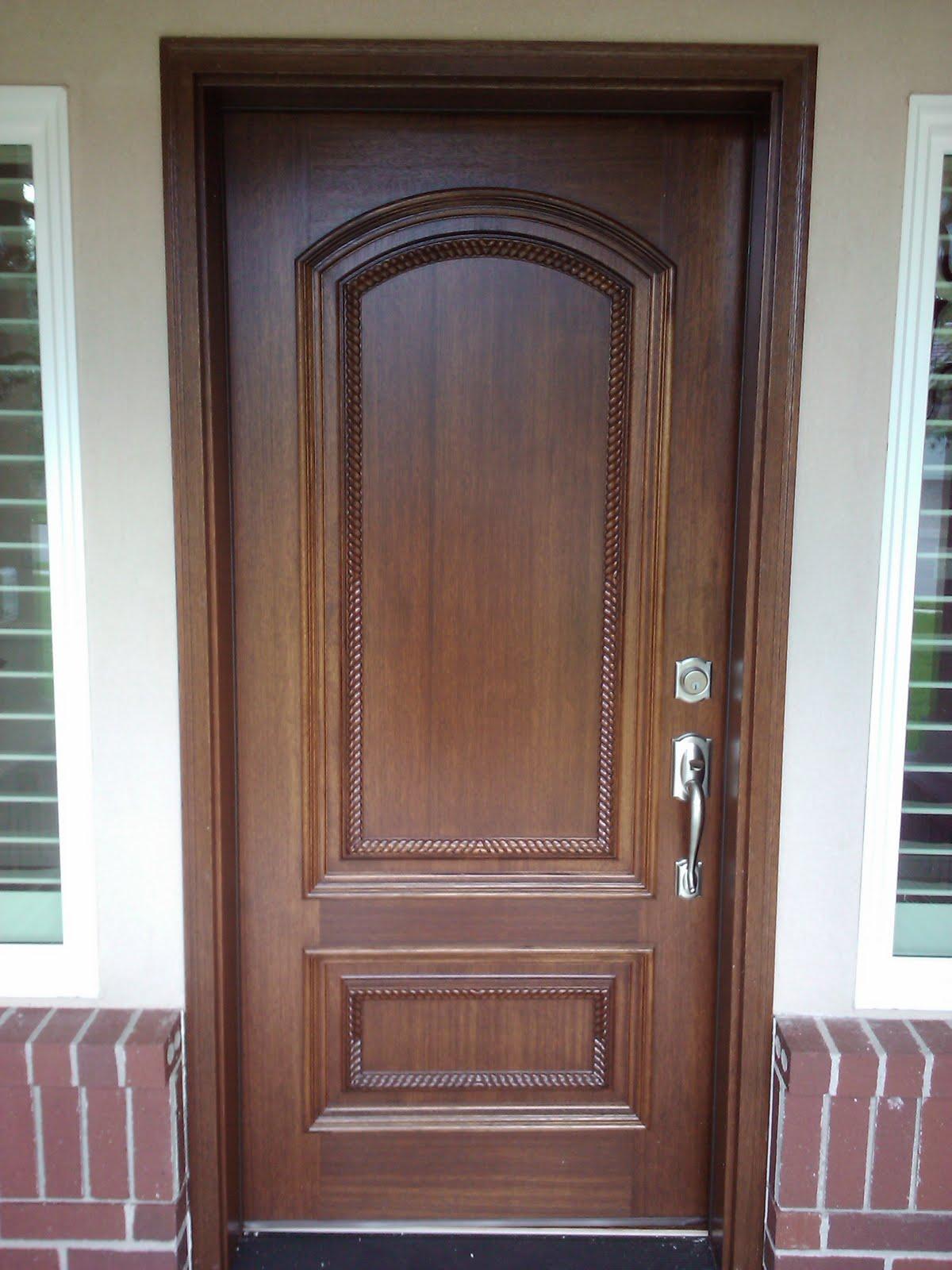 Showroom Construction Mahogany Pella Entry Door