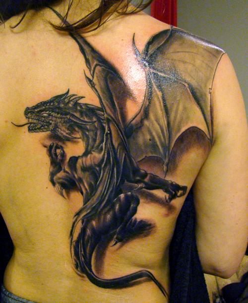 Tatuaje Dragón demonio