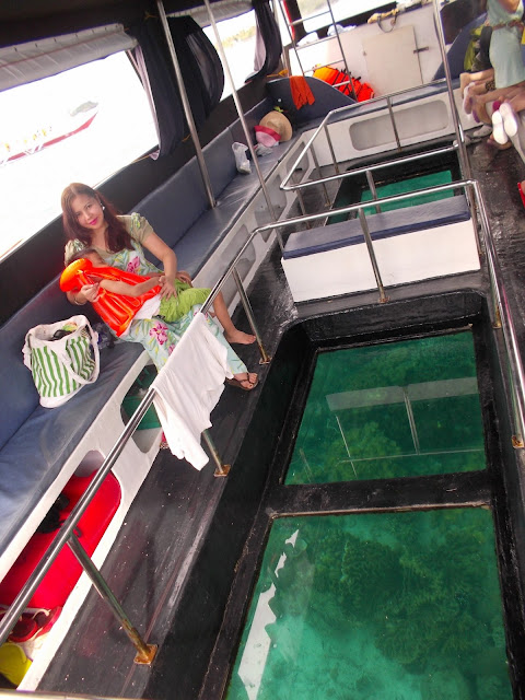 glass-bottom boat tour in boracay