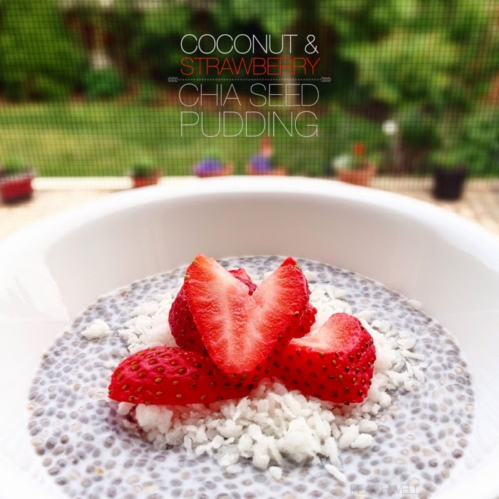 COCONUT & STRAWBERRY CHIA SEED PUDDING