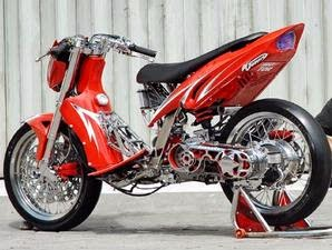 adalah modifikasi motor metik yamaha mio dimana untuk desain mio