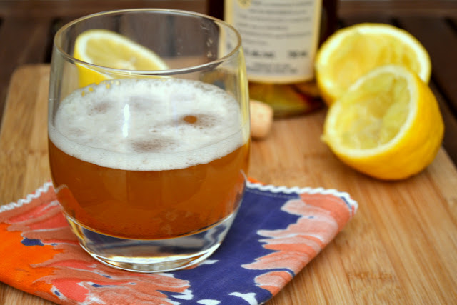 Bourbon Lemon Maple Syrup Cocktail
