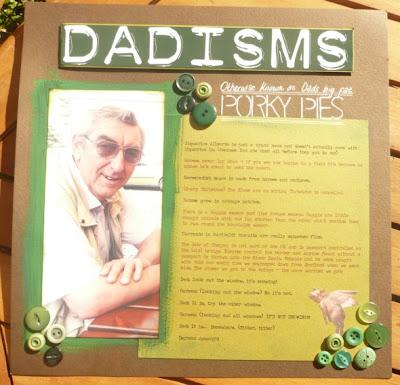 Carmen Wing/Whoopidooings - Dadisms Dad Scrapbook Page