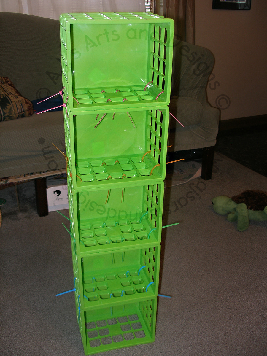 The Crates Stacked Together