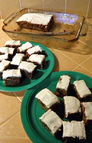 Three Plates of Frosted Persimmon Bars