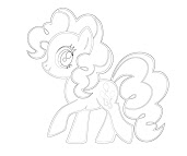 #9 Pinkie Pie Coloring Page