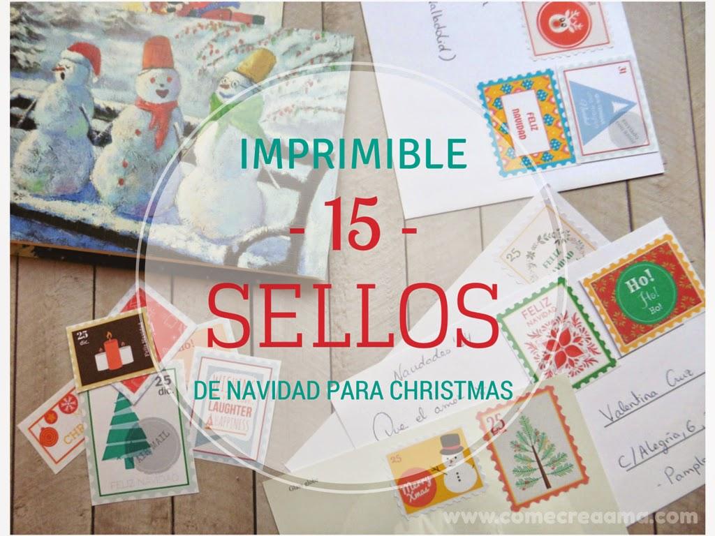 Imprimible: sellos de navidad