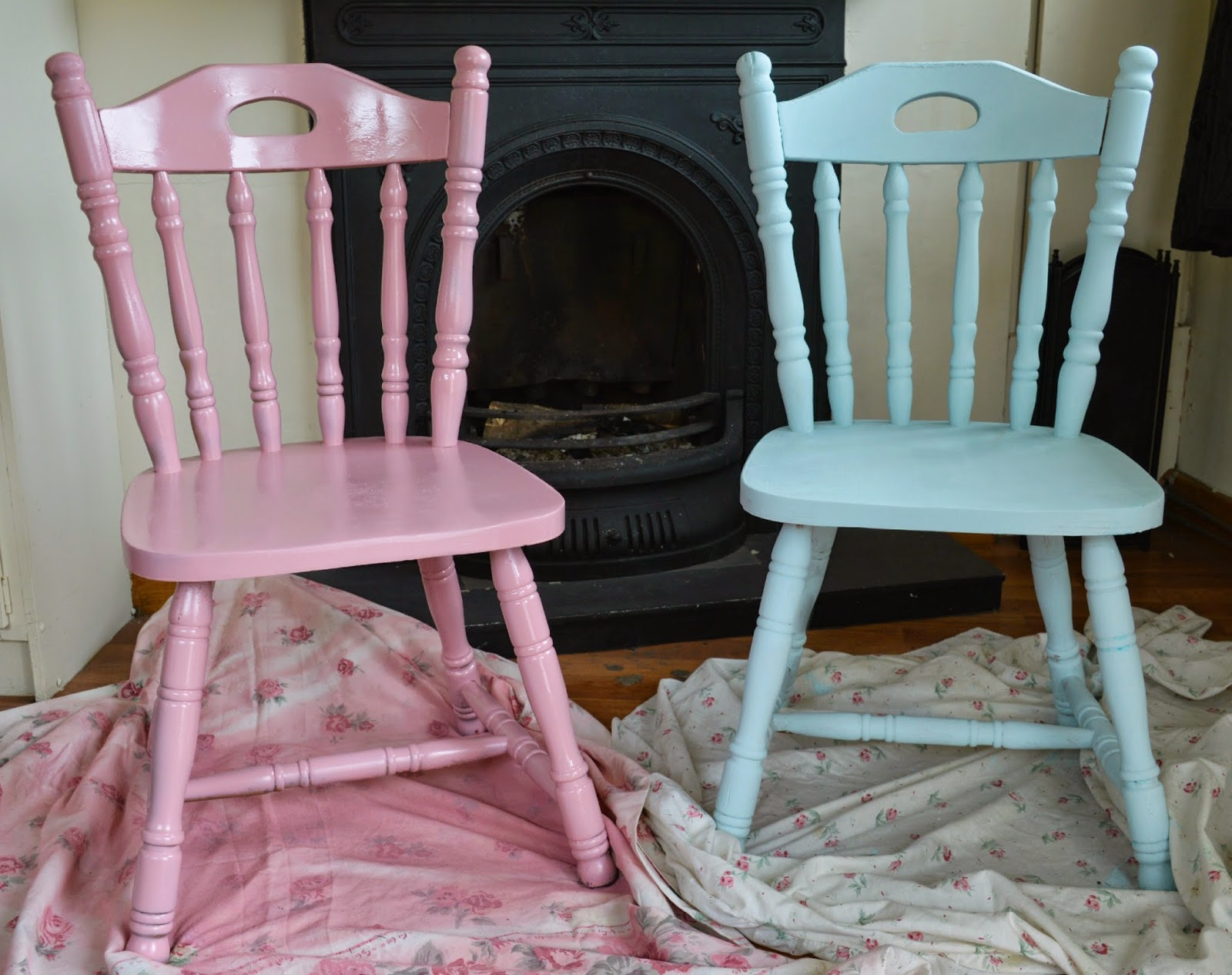 pink shabby chic furniture. DIY Upcycled Chairs | Shabby Chic Inspired ♥ Pink Furniture