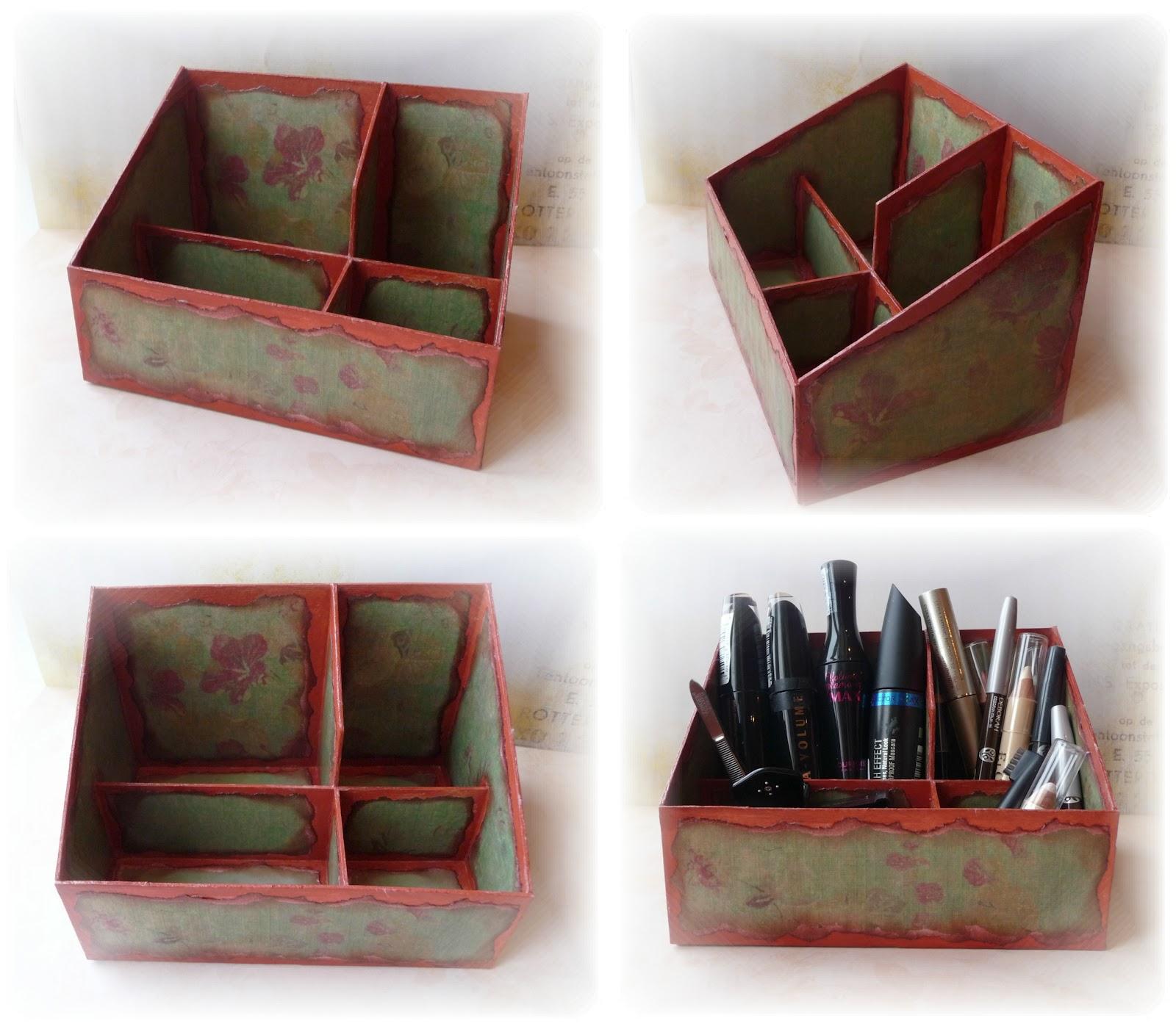 Сделать коробочку для косметики своими руками 60