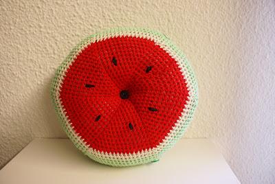 Cojín Sandía Crochet