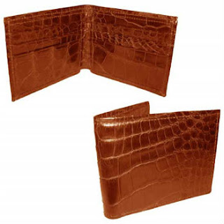alligator leather bifold