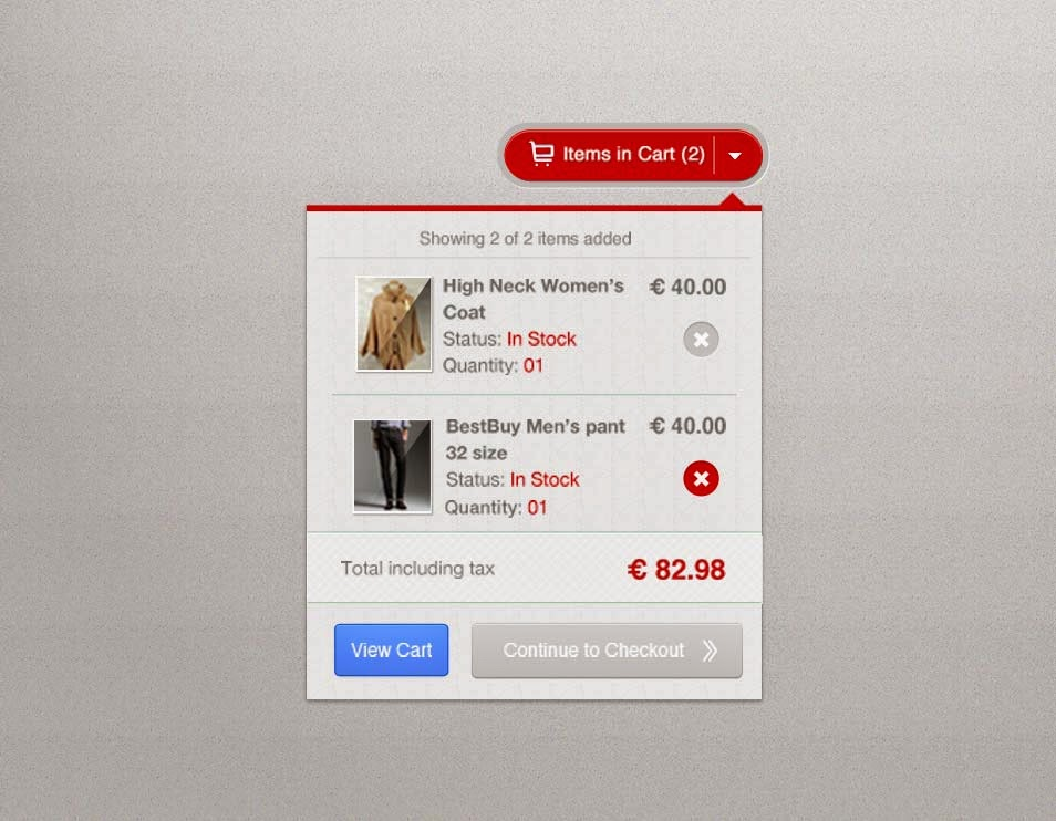 Free PSD Stylish Shopping Cart