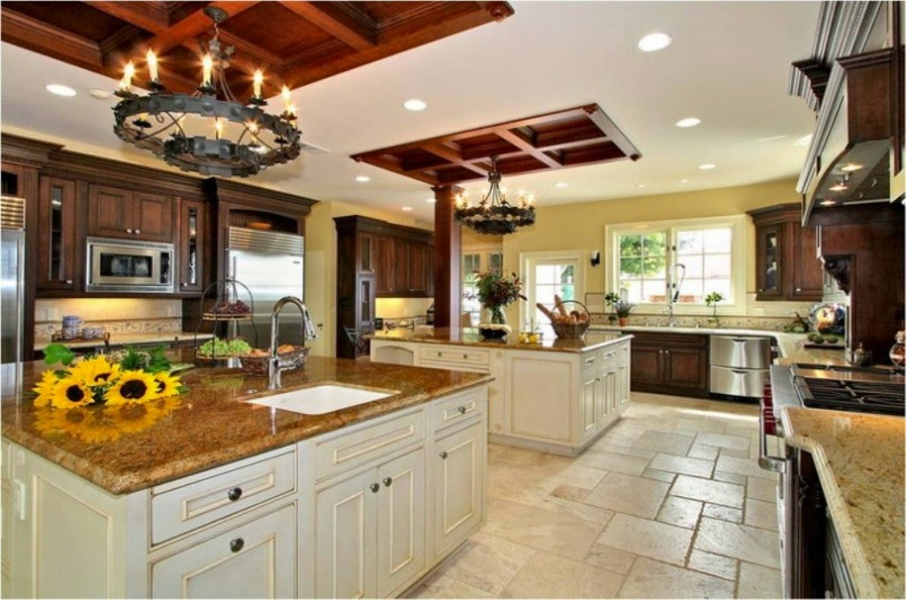 big kitchen design pictures - Large Kitchen Layouts