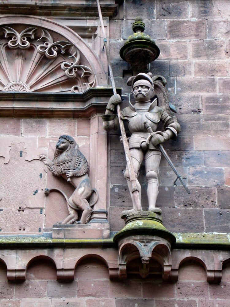 Comical sculpture at the entrance to Heidelberg Castle, taken by Andie Gilmour